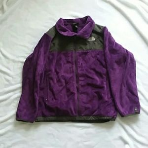 The North Face purple jacket Size XL…